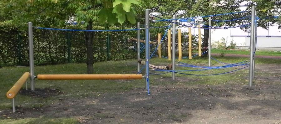 Bild: Niedrigseilgarten der Bernhard-Kellermann Oberschule